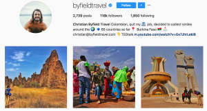 Travel influencers on social media