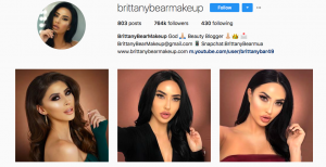 Beauty and makeup influencers social media