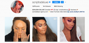 Makeup and beauty influences social media