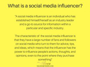 Definition social media influencer